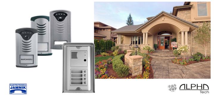 Univerzalni analogni in GSM domofoni za telefonske sisteme ter IP videodomofoni