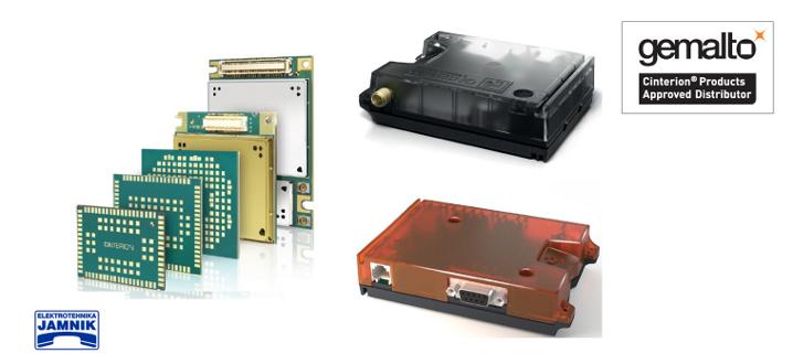 Gemalto Cinterion IoT moduli in terminali za 2G, 3G in $G ter 5G omrežja.