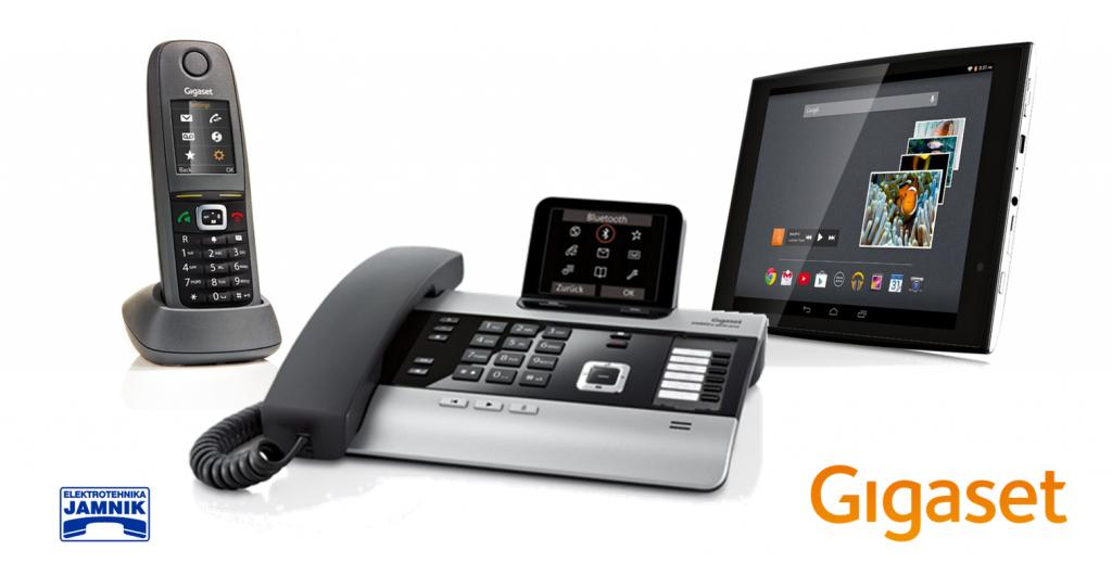 Gigaset prodajni program telefonije,ip telefonov