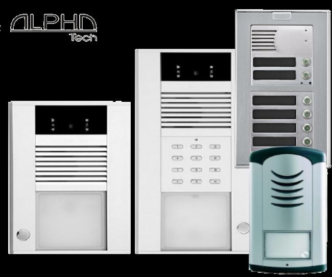Kakovostni IP, GSM in analogni domofoni Alphatech