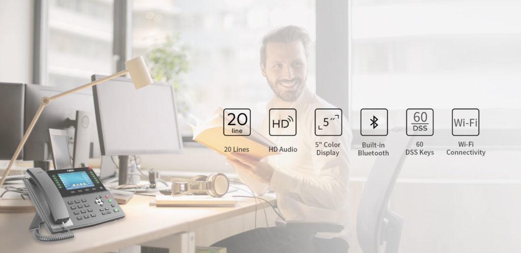Fanvil X7C IP namizni telefon s 5 inčnim zaslonom občutljivim na dotik