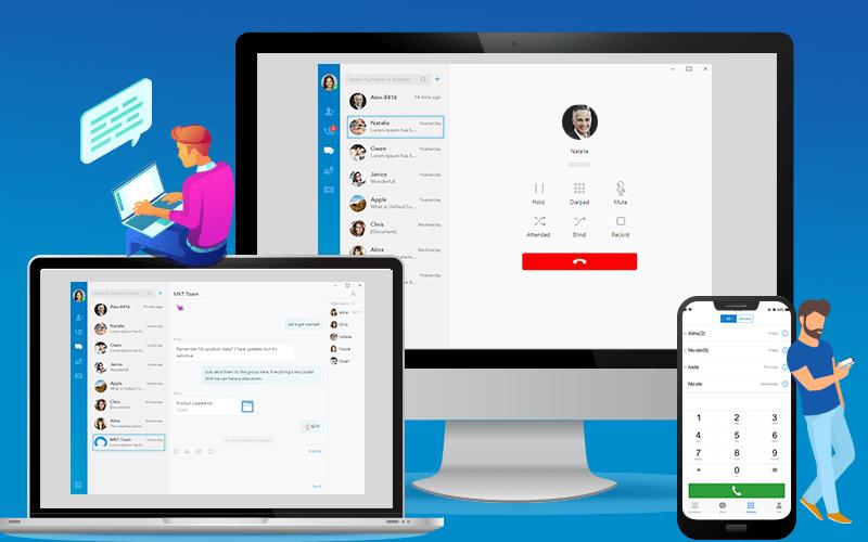 Linkus aplikacija za računalnike in pametne telefone poveže IP telefonski sistem in zaposlene